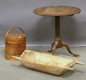 Three Accessory And Furniture Items, A Firkin, Hew
