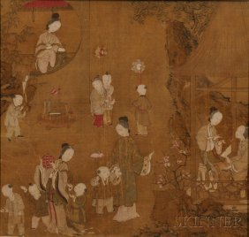 Five Album Leaves, China, Ink And Color On Silk, In The