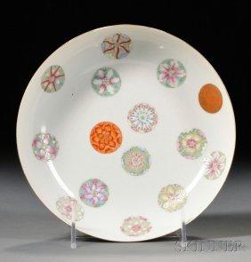 Enameled Dish, China, 19th Century, Shallow Walls, The