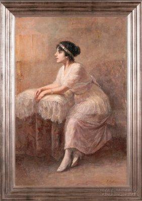 Antonio Piatti (Italian, 1875-1962) Portrait Of A Y