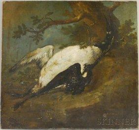 Dutch School, 18th Century Dead Loon Or Goose In A