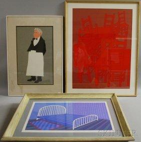 Judith Shahn (American, 1929-2009) Ten Prints Of F