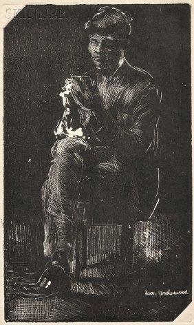 Leon Underwood (British, 1890-1975) Seated Figure.