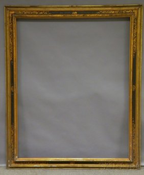 Arts & Crafts Gilt And Painted Frame, With Labels