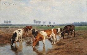 Hermann Baisch (German, 1846-1894) Cattle Watering