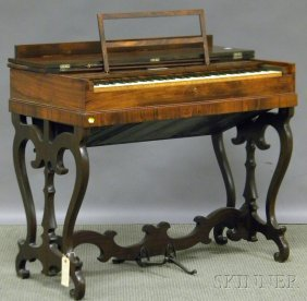 Victorian Rosewood Veneer Melodeon, Herald J. Pott