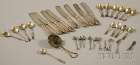 Small Group Of Assorted Mostly Sterling Silver Flatw