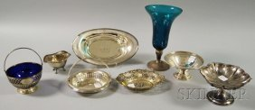 Eight Assorted Silver And Silver-mounted Serving An