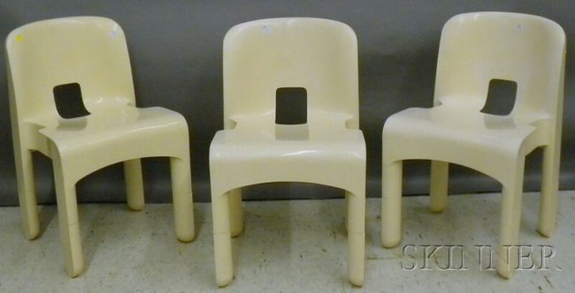 972 set of three joe colombo designed kartell binasco for Kartell binasco