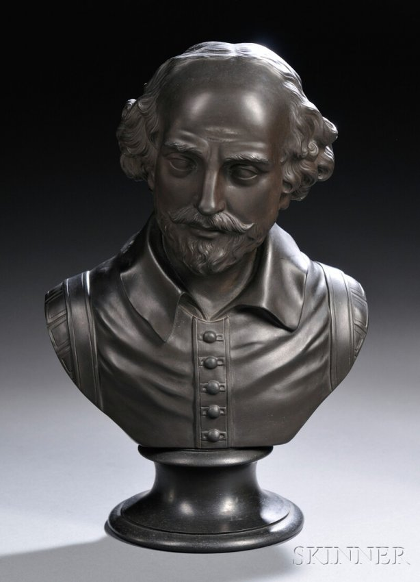 73 wedgwood black basalt bust of shakespeare england. Black Bedroom Furniture Sets. Home Design Ideas