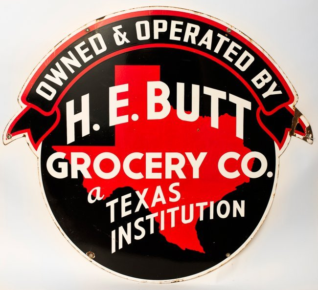 Heb Texas Backyard: H.E. Butt ( HEB ) Grocery Sign : Lot 415