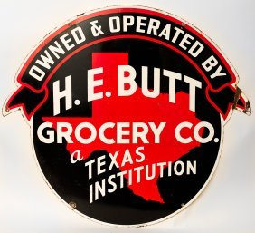 H E Butt Heb Grocery Sign Lot 415