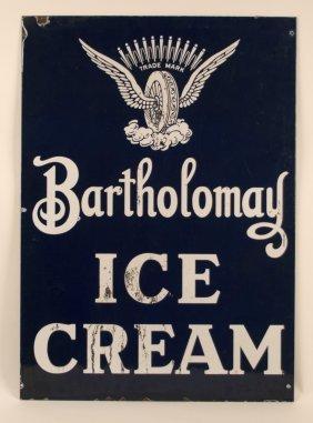 Bartholomay Brewery Ice Cream Porcelain Sign