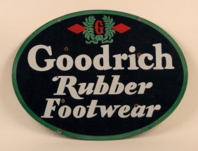 Goodrich Rubber Footwear Porcelain Sign