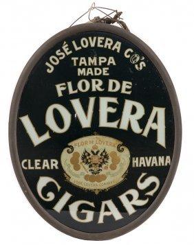 Lovera Cigars Lighted Glass Sign