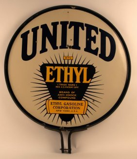 United Gasoline With Ethyl Porcelain Sign