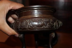 Antique Chinese Bronze Censer Burner