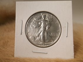 1945 Us Silver Walking Liberty Half Dollar