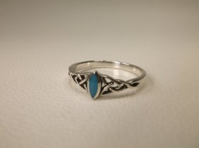 Gorgeous Sterling Silver Turquoise Ring 7