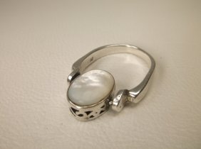 Beautiful Sterling Silver Spinning Mop Ring 7