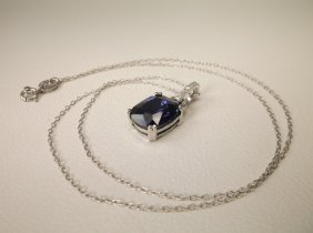 Gorgeous Sterling Silver Blue Stone Necklace