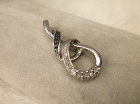 Gorg Sterling Silver 14 Genuine Diamond Pendant