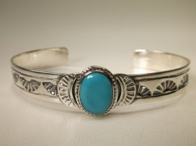 Gorgeous Sterling Silver Turquoise Cuff Bracelet