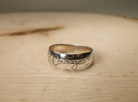 Beautiful Sterling Silver Courage Ring 8