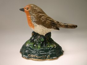 Gorgeous Cast Iron Bird Door Stop