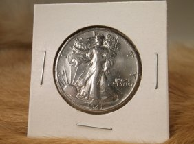 1941 S Us Silver Walking Liberty Half Dollar