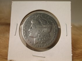 1896 S Us Silver Morgan Dollar