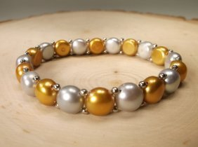 Gorgeous Sterling Genuine Freshwater Pearl Bracelet