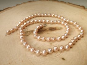 """Gorgeous Sterling Genuine Freshwater Pearl Necklace 18"""""""