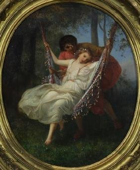 Jules Cinthoin (french, 19th Century), Swinging Beauty,