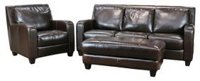 (lot Of 3) Leather Living Room Suite