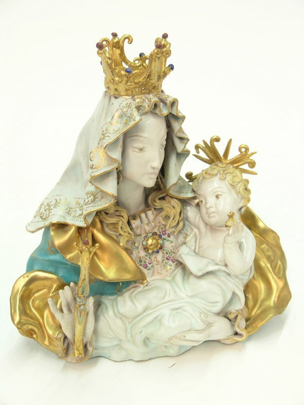 2042: Madonna and child Eugenio Pattarino : Lot 2042