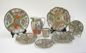 Assembled Chinese Canton Rose Dishware