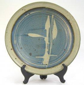 Mashiko Type Large Glazed Plate