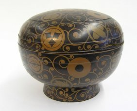 Japanese Lacquer Decorated Container