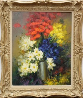2219 Painting Hahn Vidal Flowers Paris Lot 2219