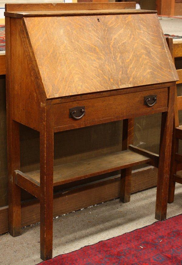 6165 Gustav Stickley Oak Drop Front Desk Lot 6165