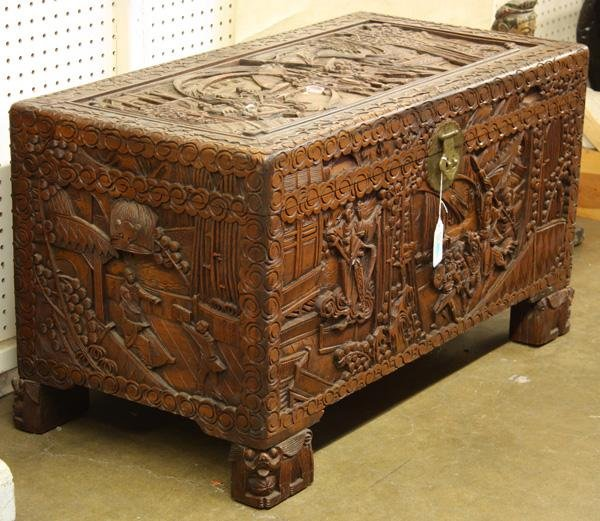 chinese carved wooden chest 2
