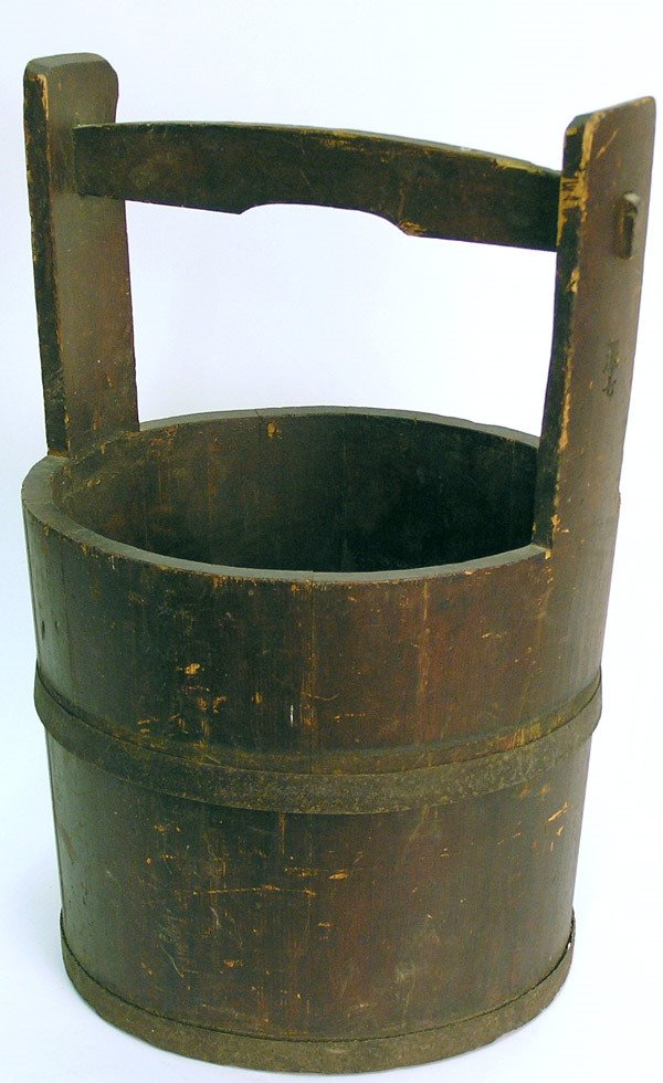 6075 Japanese Wooden Bucket Lot 6075
