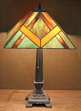 Prarie Style Leaded Glass Lamp