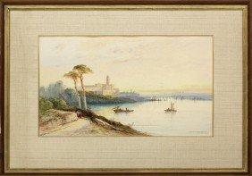 Atercolor, Sydney Lawrence, Italian Lake Scene