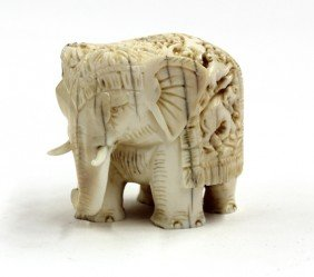 East Indian Elephant Figure