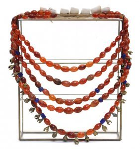 Tribal Multi-strand Chalcedony Necklace
