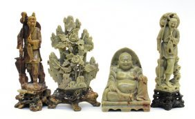 Group Of Chinese Soapstone Carvings