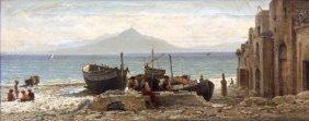 Painting, Frederico Nerly, Capri
