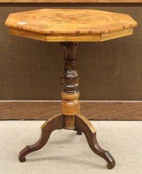 Italian Inlaid Tilt Top Table